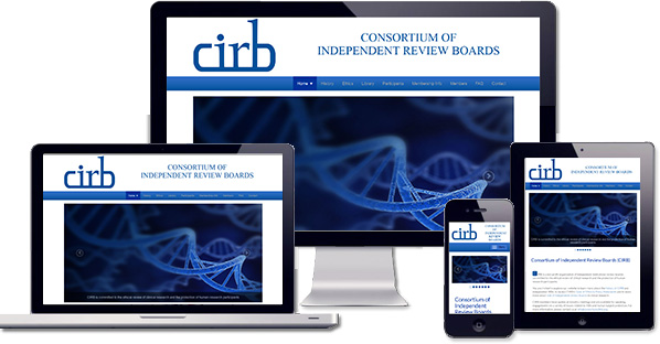 Customised responsive WordPress website created for Consortium of IRB