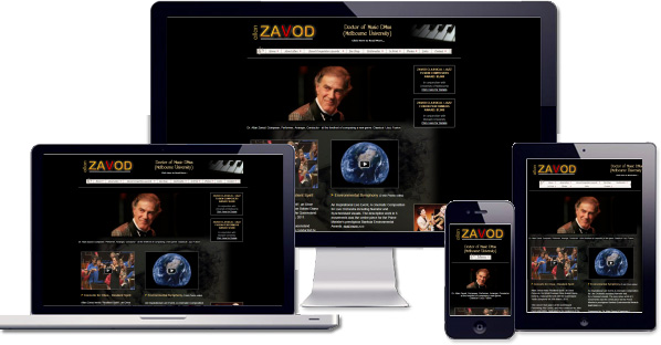 Customised responsive website being developed for Allan Zavod